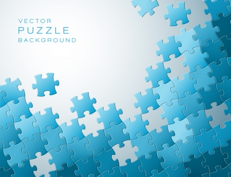 Abstract background made from blue puzzle pieces and place for your content