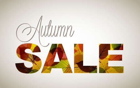 fall sale poster / illustration with colorful leafs