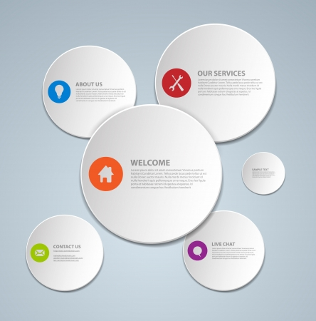 Abstract web page template made from circles