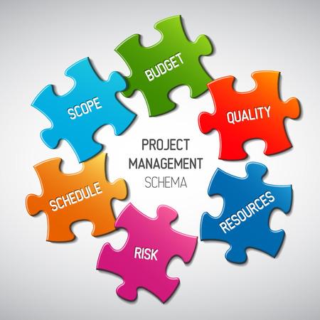Illustration pour Vector Project management diagram scheme concept - image libre de droit
