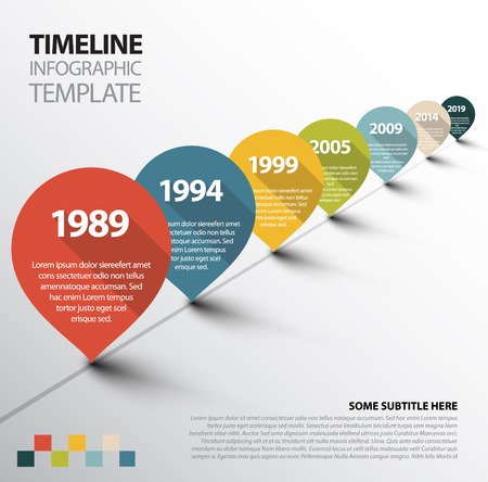 Infographic Timeline Template with retro pointers