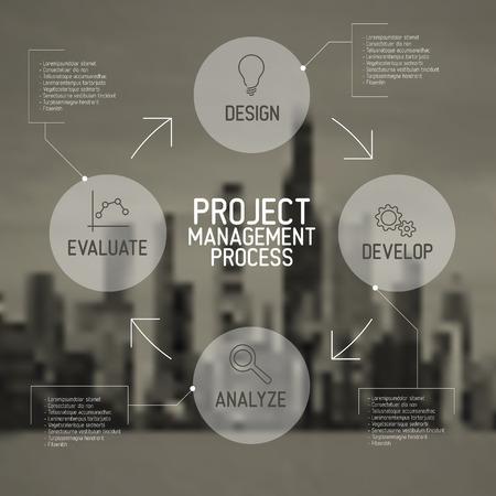 Illustration pour Modern Vector Project management process diagram concept - image libre de droit