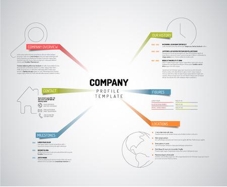 Foto für Vector Company infographic overview design template with colorful labels - light version - Lizenzfreies Bild