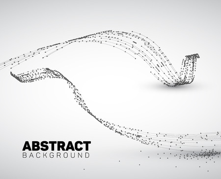 Illustration for Abstract black and white background made from points and circles. Abstract Geometry. Geometrical abstract shape. - Royalty Free Image