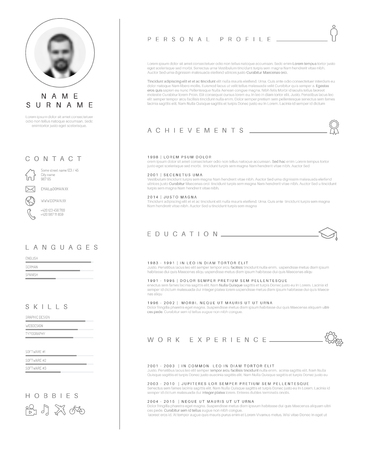 Illustration pour minimalist cv / resume template with nice typography design. - image libre de droit