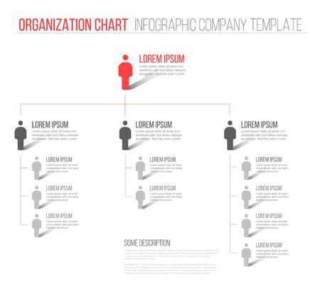 Illustration pour Minimalist company organization hierarchy 3d chart template  - image libre de droit