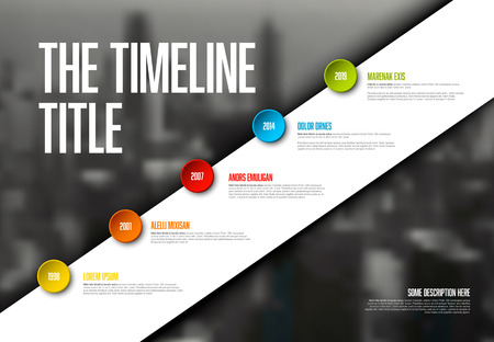 Vector Infographic timeline report template with big photo