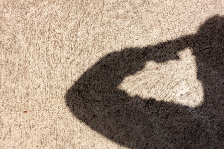 Foto per Salute shadow background. - Immagine Royalty Free