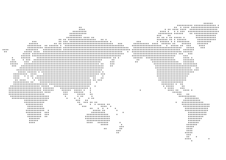 Illustration pour World map of dot - image libre de droit