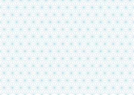 Geometric hemp-leaf pattern pale blue