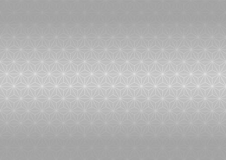 Geometric hemp-leaf pattern (Silver)