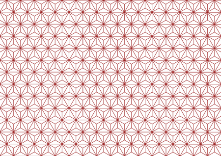 Hemp-leaf geometric pattern (Red)