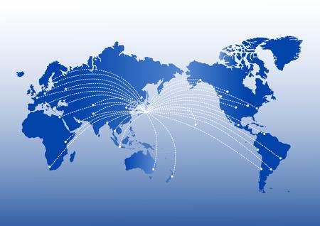 Ilustración de World map of global image - Imagen libre de derechos