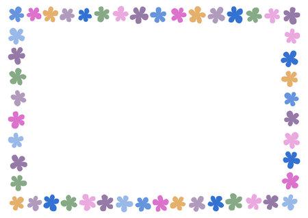 Illustration pour Retro floral pattern. Background vector illustration. Frame design. - image libre de droit