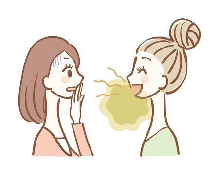 Illustration pour Illustration of bad breath trouble - image libre de droit