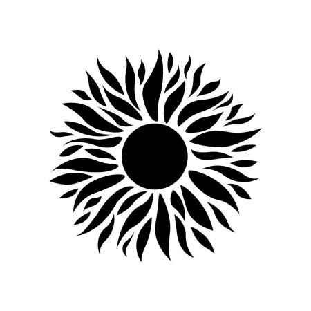 Illustration pour Vector Illustration. Summer sun icon.  Sunshine background for design - image libre de droit