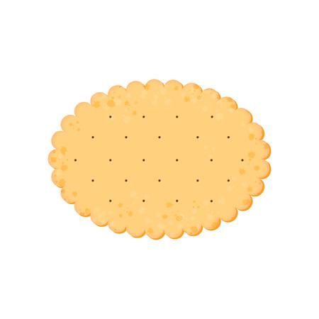 Illustration pour Vector Illustration. Health cracker. Isolated cookie: ellipse. Icon - image libre de droit