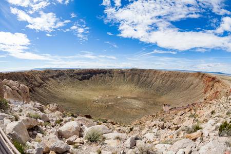 View of the Meteor Crater, Flagstaff, Arizona