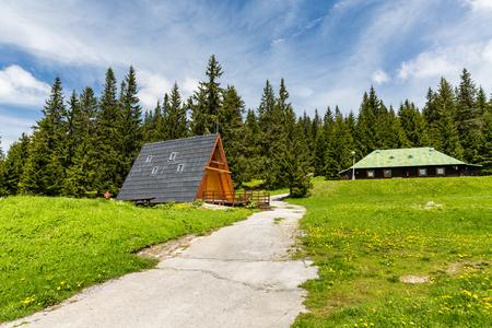SMREKOVICA, SLOVAKIA - MAY 31, 2015: Views of the recreation area Smrekovica on the Velka Fatra National Park, Slovakia on May 31, 2015. Velka Fatra is a popular hiking and mountain biking area.