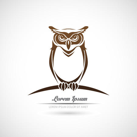 Illustration for Icon owl on a white background. - Royalty Free Image