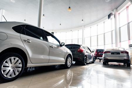 Photo pour New cars at dealer showroom close view - image libre de droit