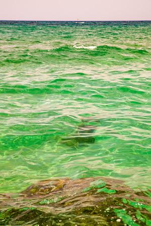 Azure water of the Mediterranean Sea