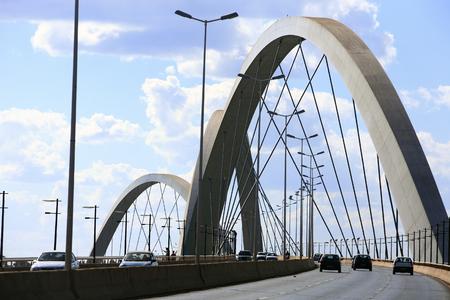 Photo for Juscelino Kubitschek bridge in  brasilia city capital of brazil - Royalty Free Image