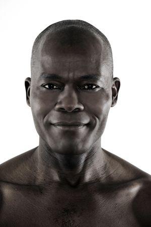 Foto de studio shot portrait of a smiling forty Handsome Afro-American Man - Imagen libre de derechos