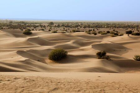 khuri dunes in thar desert near jaisalmer in rajasthan state in indi