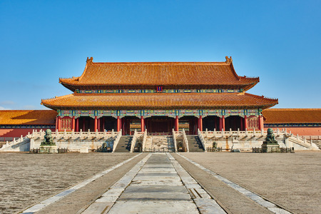 Taihemen gate of supreme harmony imperial palace Forbidden City of Beijing China