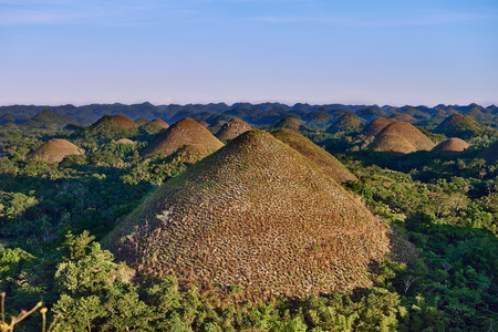 Chocolate hills in Bohol in Philippines