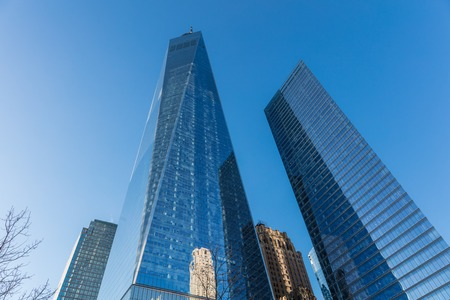 Photo pour the World Trade Center one of the main Manhattan Landmarks in New York City USA - image libre de droit