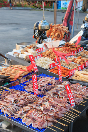 Cijin Island, Taiwan - November 4,2014: Street food in Cijin Island -