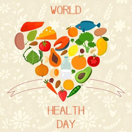 Foto de Concept Vector Card - World Health Day. - Imagen libre de derechos