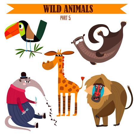 Foto de Vector set-Wild animals in cartoon style.ctor - Imagen libre de derechos