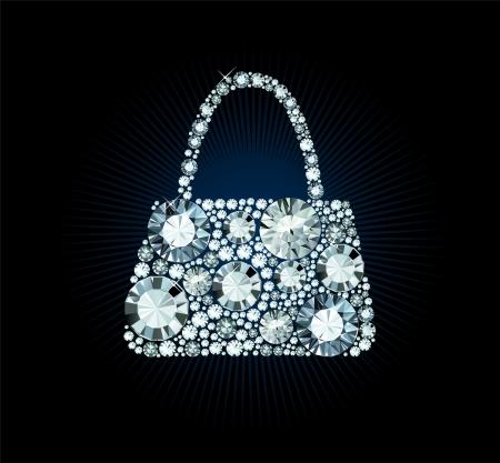 Illustration pour Diamond Handbag - image libre de droit