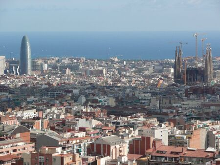 Foto per Spain. Barcelona. A panorama of Sagrada Famiglia - Immagine Royalty Free