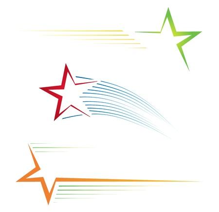 Illustration pour Star icons  - image libre de droit