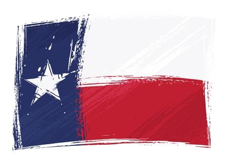 Grunge Texas flag