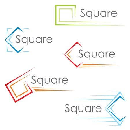 Illustration pour Square icons - image libre de droit