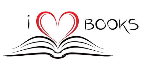 Illustration pour I love books - image libre de droit