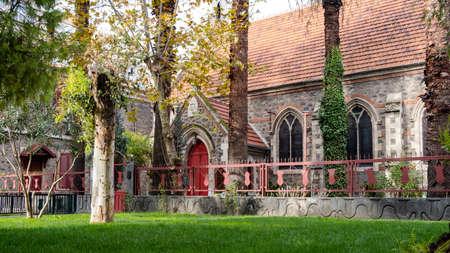 Alsancak, Izmir / Turkey - 12/20/2019: Saint John the Evangelist Anglican Church.