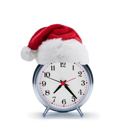 alarm clock with christmas santa hat