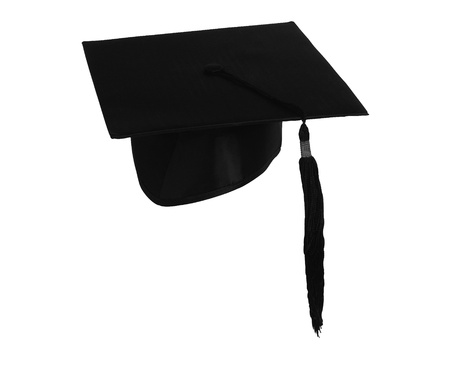 Student hat on white