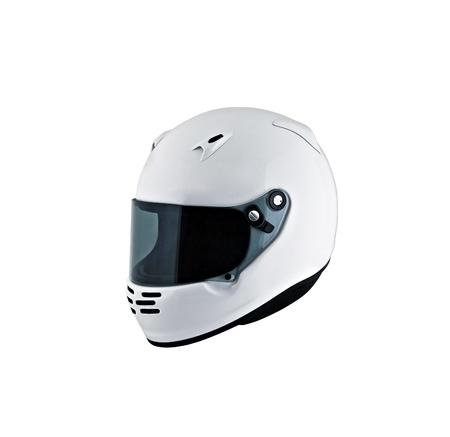 motorcycle helmet over white background, studio isolated.