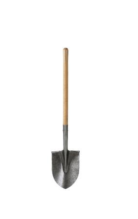 close up of a shovel ribbon on white