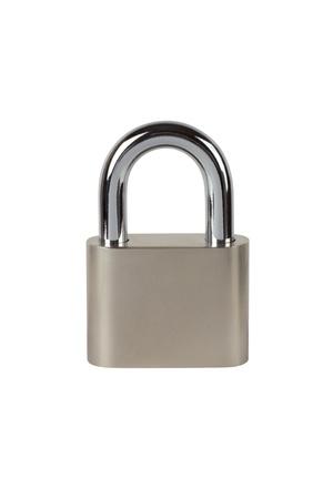 Photo pour Metal padlock on white background - image libre de droit
