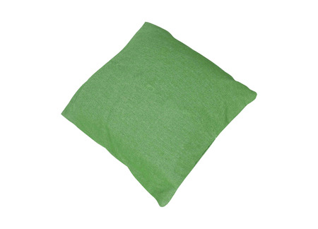 Green pillow isolated on white
