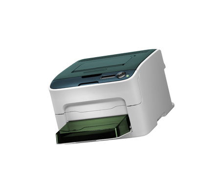All in one printer scaner isolated on white