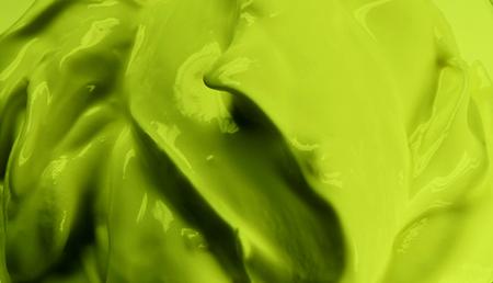 green icecream isolated on white